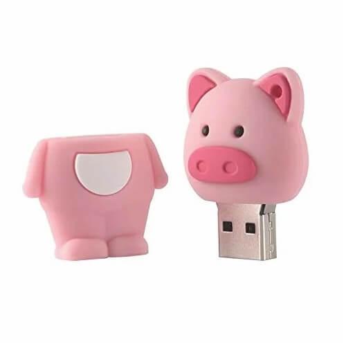 ブタ(2本足)型USBメモリ